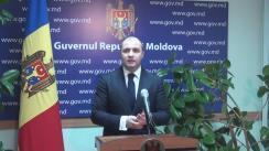 Declarațiile lui Vladimir Cebotari după ședința Guvernului Republicii Moldova din 7 decembrie 2016