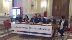 """Conferință de presă prilejuită de lansarea oficială a noii Confederații patronale """"Business România"""""""