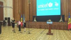 Eveniment dedicat aniversării a 70 de ani de la fondarea UNICEF