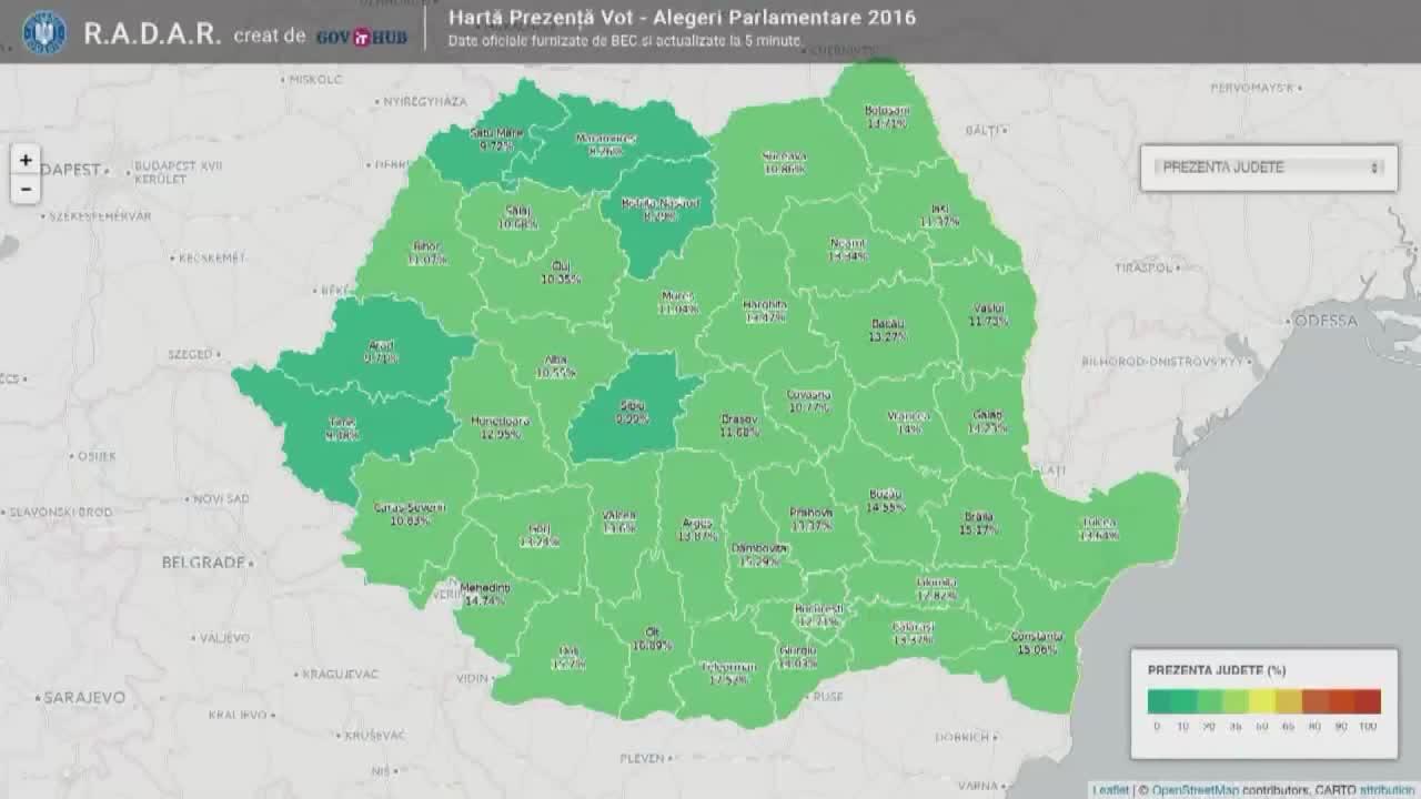 Alegeri Parlamentare 2016: Prezența la vot