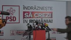 Declarații de presă susținute de Președintele PSD, Liviu Dragnea, după închiderea secțiilor de vot