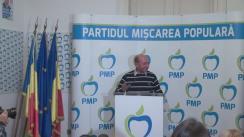 Declarații de presă susținute de Președintele PMP, Traian Băsescu, după închiderea secțiilor de vot