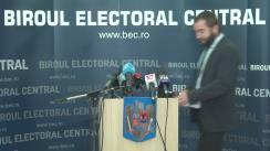 Briefing de presă susținut de reprezentanții Biroului Electoral Permanent