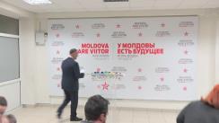 Briefing susținut de președintele ales al Republicii Moldova, Igor Dodon