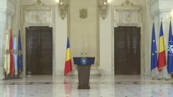 Declarație de presă susținută de președintele României, Klaus Iohannis, după consultările cu partidele care au intrat în Parlament