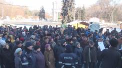 Protest organizat de Uniunea Pensionarilor din Moldova