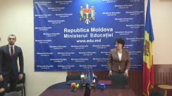 Semnarea Protocolului de colaborare între Ministerul Educației din Republica Moldova și Ministerul Educației Naționale și Cercetării Științifice din România pentru anii de învățământ 2016 – 2019