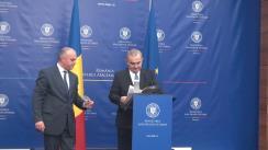 Conferință de presă pentru prezentarea bilanțului mandatului la conducerea MAE de către ministrul afacerilor externe, Lazăr Comănescu
