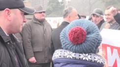 Acțiune de protest împotriva președintelui Republicii Moldova, Igor Dodon