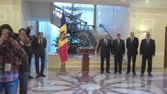 Briefing susținut de președintele Republicii Moldova, Igor Dodon, cu ocazia prezentării echipei președintelui