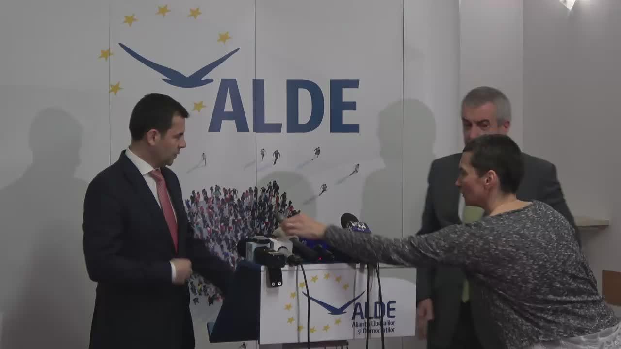 Declarații de presă susținute de copreședinții ALDE, Călin Popescu-Tăriceanu și Daniel Constantin
