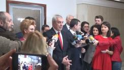 Declarații de presă susținute de copreședinții ALDE, Călin Popescu-Tăriceanu și Daniel Constantin, după ședința membrilor Biroului Politic Central al ALDE