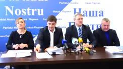 """Conferință de presă cu tema """"Tentativa de atac raider asupra municipiului Bălți organizată de oamenii lui Plahotniuc"""""""