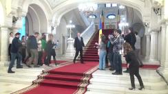 Declarații de presă după întâlnirea președintelui României, Klaus Iohannis, cu prim-ministrul României, Sorin Grindeanu, și cu ministrul Finanțelor Publice, Viorel Ștefan