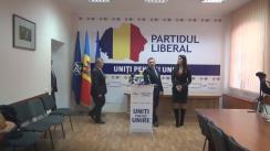 """Conferință de presă organizată de Partidul Liberal cu tema """"Inițierea procedurii de suspendare din funcție a Președintelui Republicii Moldova, Igor Dodon, pentru încălcarea Constituției"""""""