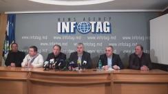 """Conferință de presă organizată de Uniagroprotect, Asociațiile Agroinform și Moldova-Fruct, Federația Națională a Fermierilor din Moldova cu tema """"Cât se poate de mințit hoticultorii?"""""""