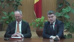 Conferință de presă susținută de viceprim-ministrul pentru reintegrare, Gheorghe Bălan, și reprezentantul special al Președintelui în exercițiu al OSCE pentru reglementarea conflictului transnistrean, E.S. Wolf Dietrich Heim