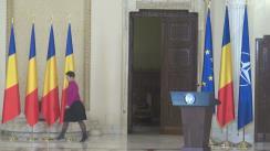 Ceremonia de decorare a președintelui Federației Comunităților Evreiești din România, Aurel Vainer
