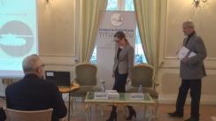 """Dezbaterea organizată de Fundația Europeană Titulescu cu tema """"Securitatea cibernetică – Dimensiune a securității naționale și internaționale"""""""