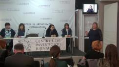 """Conferință de presă cu tema """"Presiuni alarmante asupra jurnaliștilor din Republica Moldova: de la brutalizare și intimidare, la procese penale"""""""
