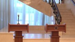 Declarații de presă susținute de președintele Republicii Moldova, Igor Dodon, și președintele Federației Internaționale de Șah, Kirsan Iliumjinov