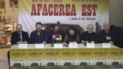 """Conferință de presă dedicată lansării filmului """"Afacerea Est"""" la Chișnău"""