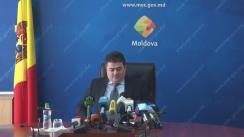 Conferință de presă susținută de ministrul Economiei, Octavian Calmîc, de prezentare a priorităților instituției pentru anul 2017