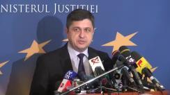 Declarație de presă susținută de conducerea Ministerului Justiției, în urma dezbaterii referitoare la grațiere și amnistie
