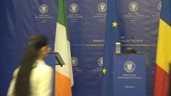 Conferință de presă susținută de ministrul român delegat pentru Afaceri Europene, Ana Birchall, și ministrul irlandez de Stat însărcinat cu Afacerile Europene, Protecția Datelor și pentru Piața Unică Digitală a UE, Dara Murphy