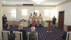 Ceremonia de acordare a distincțiilor de stat de către președintele Republicii Moldova, Igor Dodon