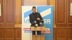 Conferință de presă susținută de deputatul USR, Dan Barna, în legătură cu incidentele care au avut loc la protestele de miercuri seară