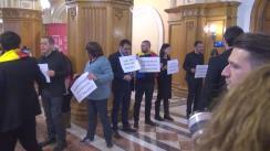 Protest în Parlamentul României organizat de membrii USR și PNL