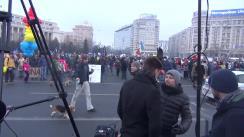 Protest împotriva OUG privind amnistia și grațierea
