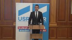 Conferința de presă susținută de deputații USR - Dan Barna, Cristian Ghinea, Claudiu Năsui și Silviu Dehelean