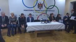Conferință de presă organizată de Ministerul Tineretului și Sportului cu privire la premierea sportivilor olimpici