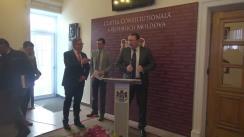 Briefing susținut de președintele Curții Constituționale, Alexandru Tănase, și șeful Delegației Uniunii Europene în Republica Moldova, Pirkka Tapiola