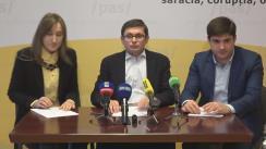 """Conferință de presă cu tema """"Poziția Partidului Acțiune și Solidaritate și soluțiile identificate cu privire la problema alimentării copiilor în instituțiile de învățământ preșcolar din mun. Chișinău"""""""