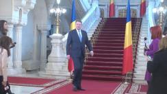 Declarație de presă susținută de Președintele României, Klaus Iohannis, după întâlnirea cu prim-ministrul Sorin Grindeanu și ministrul Finanțelor Publice, Viorel Ștefan
