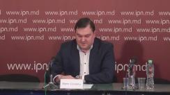 """Briefing susținut de președintele Asociației Patronale din Industria Prelucrătoare, Marin Ciobanu, cu tema """"Moldova – de la haos la stabilitate și prosperitate"""""""