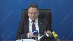 Briefing de presă susținut de directorul Agenției Proprietății Publice, Tudor Copaci, privind informația difuzată de Primăria municipiului Chișinău, care susține că a fost lipsită de 500 de terenuri din fondul funciar municipal