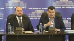 Conferință de presă susținută de deputații PMP, Eugen Tomac și Ionuț Simionca
