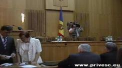Ceremonia de înmînare a legitimațiilor deputaților alesi în Parlament la 29 iulie 2009