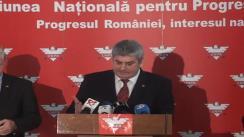 Declarație de presă susținută de conducerea UNPR