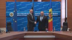 Conferință de presă susținută de ministrul Afacerilor Externe al Republicii Moldova, Andrei Galbur, și ministrul Afacerilor Externe al Republicii Estonia, Sven Mikser
