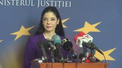 Declarații de presă susținute de noul Ministru al Justiției, Tudorel Toader