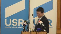 """Conferință de presă susținută de liderul Grupului parlamentar USR, Nicușor Dan, cu tema vizează""""Acțiunile parlamentarilor USR de împiedicare a privatizării administrației Bucureștiului de către clientela PSD"""""""