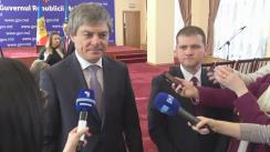 Declarațiile viceministrului Economiei, Valeriu Triboi, și ministrului Mediului, Valeriu Munteanu
