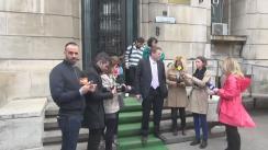 Declarații de presă după consultările pe tema salarizării bugetare dintre sindicaliști și Ministerul Muncii