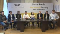 """Conferință de presă organizată de Partidul Acțiune și Solidaritate cu tema """"Schimbarea sistemului electoral - încercarea disperată a lui Plahotniuc de a se menține cu orice preț la putere"""""""