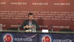 """Conferință de presă susținută de vicepreședintele Comitetului Afaceri Externe al Radei Supreme a Ucrainei, Igor Guz, cu tema """"Blocada Transnistriei: Noi scenarii din partea Ucrainei"""""""